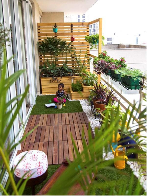 Thiết kế ban công chung cư như một khu vườn mini (nguồn: pixgateway)