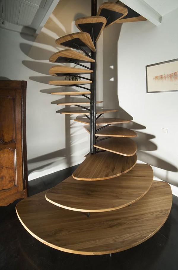 Bậc thang gỗ độc đáo và vô cùng sáng tạo (nguồn: trendir)