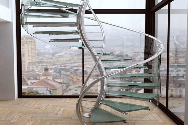 Cầu thang kính khiến không gian nhà ở thêm thoáng đãng (nguồn: Trendir)