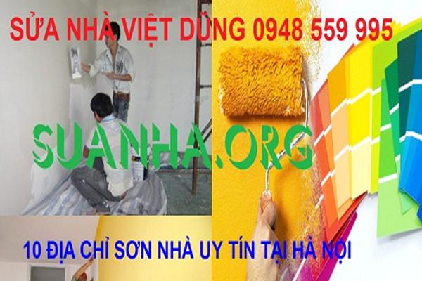 Địa chỉ sơn nhà uy tín nhất tại Hà Nội