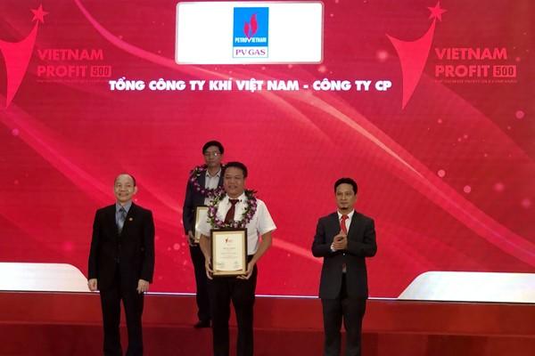 PV GAS nhận tôn vinh tại Profit500 năm 2018