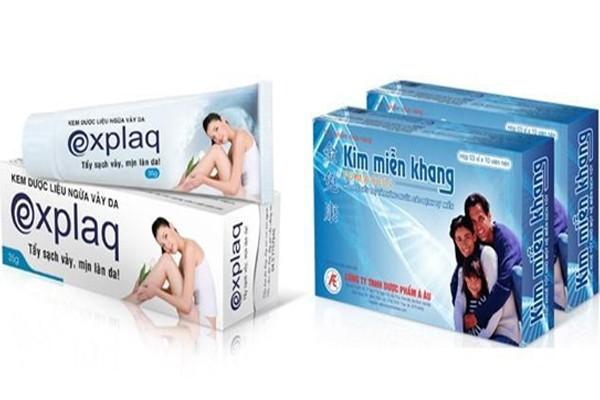 Thực phẩm bảo vệ sức khỏe Kim Miễn Khang và kem bôi da dược liệu Explaq