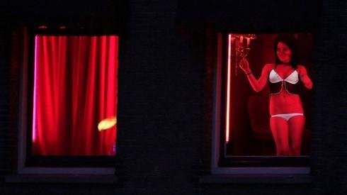 Quang cảnh phố đèn đỏ tại Amsterdam, Hà Lan