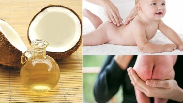 Có thể sử dụng dầu dừa để thay thế phấn rôm trị hăm cho trẻ