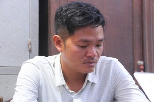 Đối tượng Nguyễn Hữu Tính tại cơ quan điều tra