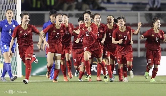 Đội tuyển nữ Việt Nam giành thắng lợi lớn tại SEA Games 30