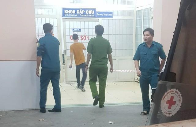 Phòng cấp cứu bệnh viện Trưng Vương, nơi xảy ra sự việc nam bệnh nhân nghi nổ súng tự sát