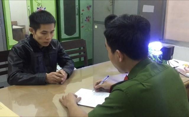 Đối tượng Hà Anh Tuấn tại cơ quan điều tra