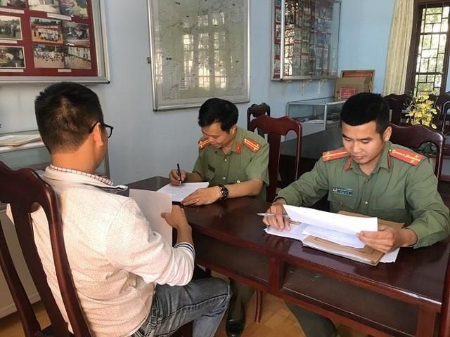Đối tượng bị công an tỉnh Đắk Nông xử phạt do tung tin sai sự thật