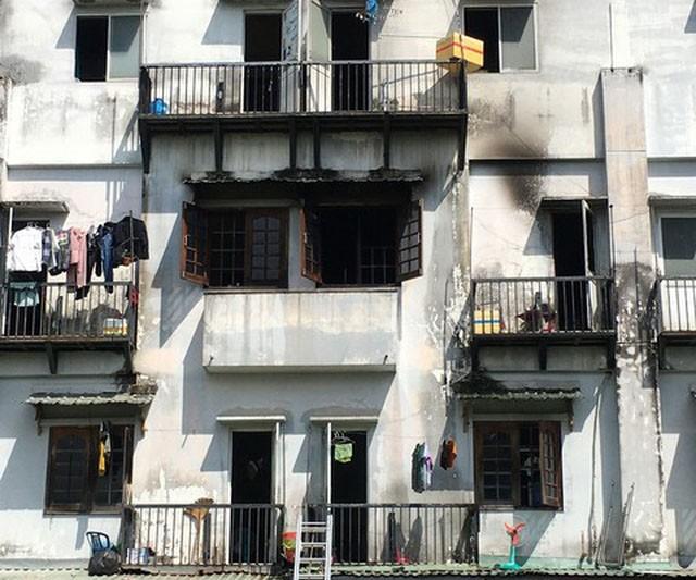 Khu nhà trọ nơi xảy ra đám cháy