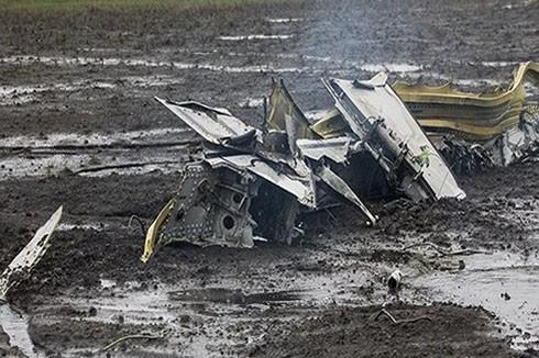 Hiện trường vụ máy bay rơi ở Nga ngày 19-3-2016
