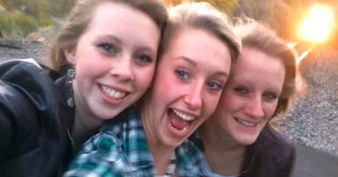 Ba cô gái thiệt mạng chỉ vài giây sau khi chụp bức ảnh này