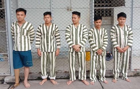 Nhóm đối tượng gây án bị cơ quan Công an bắt giữ