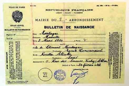 Giấy chứng nhận tiếng Pháp của Virginia Hall (Nguồn: Trung tâm lưu trữ quốc gia Anh)