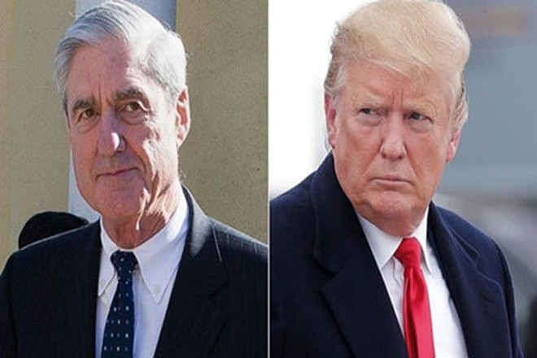 Tổng thống Mỹ Donald Trump (phải) và công tố viên đặc biệt Robert Mueller (Nguồn: AP)
