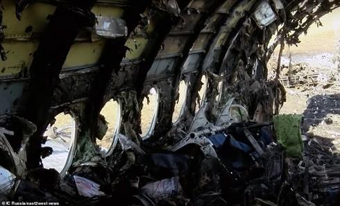 Hình ảnh bên trong máy bay gặp nạn ở Nga