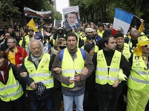 Khoảng 18.600 người tham gia các cuộc biểu tình của phong trào Áo Vàng ở Pháp ngày 11-5-2019