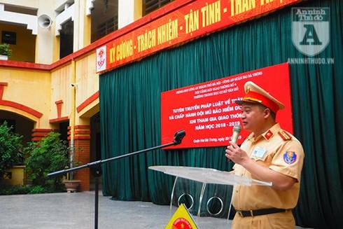 Thiếu tá Nguyễn Tuấn Anh - Phó Đội trưởng Đội CSGT Số 4 (CAQ Hai Bà Trưng)