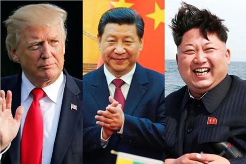 Tổng thống Mỹ Donald Trump, Chủ tịch Trung Quốc Tập Cận Bình và nhà lãnh đạo Triều Tiên Kim Jong-un (Nguồn: Reuters)