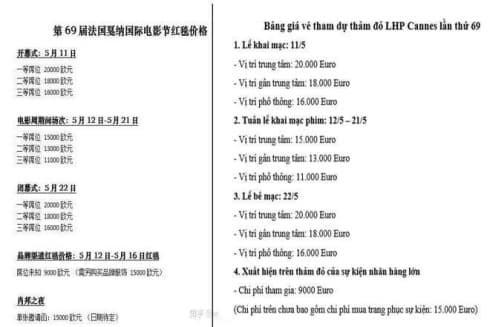"""Bảng giá vé """"chui"""" bị rò rỉ trên mạng xã hội gây xôn xao dư luận"""