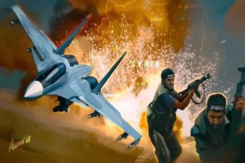 Lực lượng không quân Nga - Syria đã dùng hỏa lực dồn dập bắn phá tiêu diệt IS tại Idlib