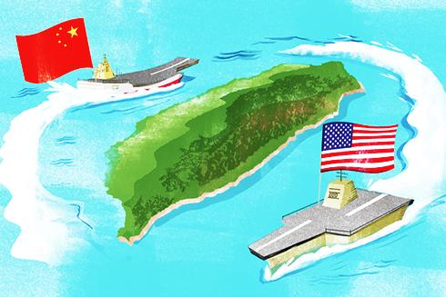Đài Loan như đang mắc kẹt giữa căng thẳng ngày càng tăng của Mỹ và Trung Quốc. (Nguồn: Nikkei Asian Review)