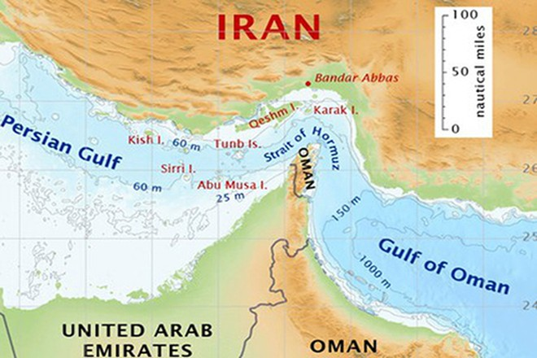Eo biển Hormuz (Nguồn: PressTV)