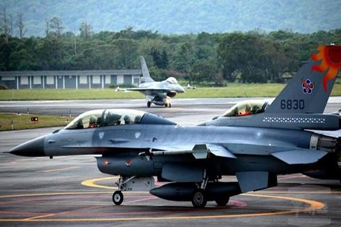Máy bay chiến đấu F-16 của Không quân Đài Loan. (Nguồn: EPA)
