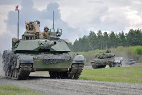Xe tăng M1A2 Abrams trong biên chế lục quân Mỹ mà Đài Loan muốn tăng cường cho khả năng quân sự (Nguồn: TASS)