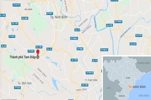 TP Tam Điệp - nơi xảy ra sự việc. Ảnh: Google Maps