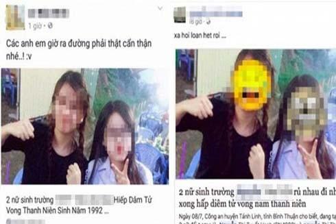 2 nữ sinh bỗng nhiên trở thanh tội phạm sau bài đăng sai sự thật, bịa đặt trên mạng.