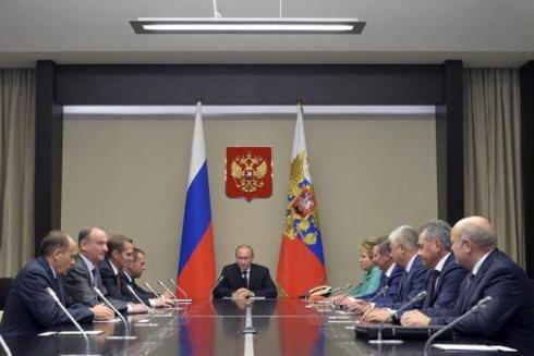 Cuộc họp của Tổng thống Nga Vladimir Putin với Hội đồng An ninh quốc gia
