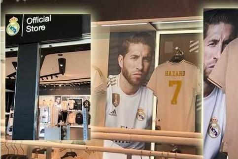 Eden Hazard chính là chủ nhân mới của chiếc áo số 7 tại Real
