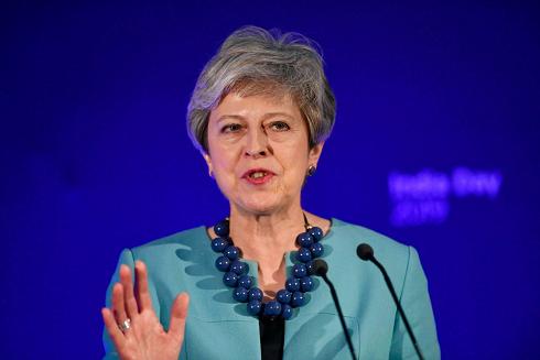 Chân dung cựu Thủ tướng Anh Theresa May (Ảnh: EPA)