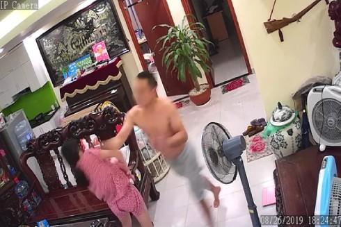 Hình ảnh ghi lại từ camera về vụ võ sư đánh vợ