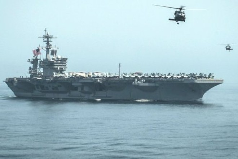 Hàng không mẫu hạm của Mỹ ở vùng Vịnh sẽ là mục tiêu nhắm bắn của tên lửa Iran