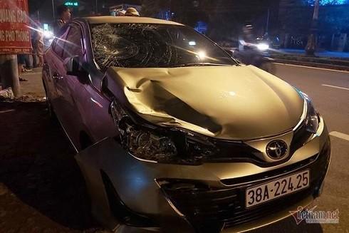 Chiếc xe gây ra tai nạn của ông Lê Ngọc Việt (Ảnh: Vietnamnet)