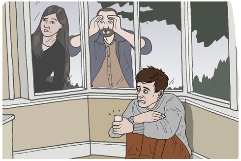 Hội chứng SAD khiến người bệnh cảm thấy lo sợ nếu ai chú ý tới bản thân