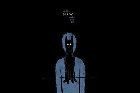 Hình ảnh chú chó đen trở thành biểu tượng nổi tiếng của bệnh trầm cảm.