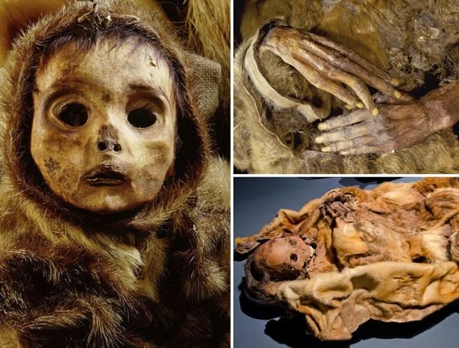 Ám ảnh ánh mắt của xác ướp bé trai 6 tháng tuổi bị chôn sống theo mẹ ảnh 1