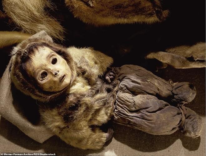 Ám ảnh ánh mắt của xác ướp bé trai 6 tháng tuổi bị chôn sống theo mẹ ảnh 6