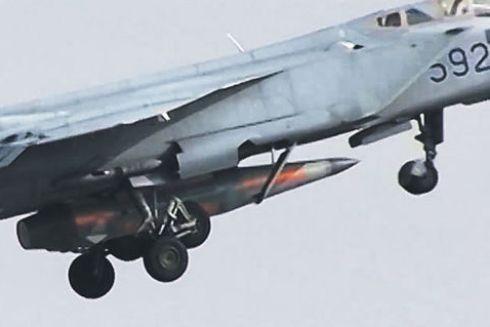 Tên lửa không đối không có độ chính xác cao Kinzhalr trên máy bay chiến đấu MiG-31