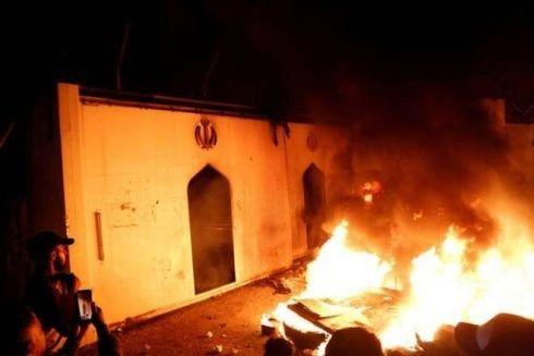 Người biểu tình Iraq đốt phá Lãnh sự quán Iran ở Najaf