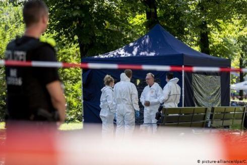 Hiện trường vụ án mạng tại công viên Kleiner Tiergarten ở Berlin, Đức ngày 23-8