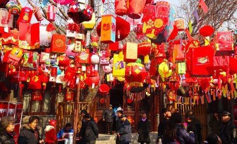 Tết Dương Lịch tại Bắc Kinh tràn ngập sắc đỏ