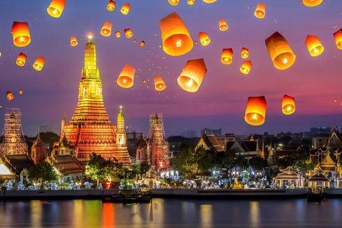 Thả đèn lồng đêm giao thừa Tết Dương lịch tại Thái Lan