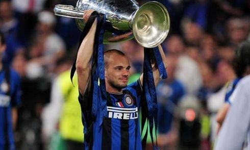 Sneijder giành C1 ngay trong mùa giải đầu tiên khoác áo Inter Milan