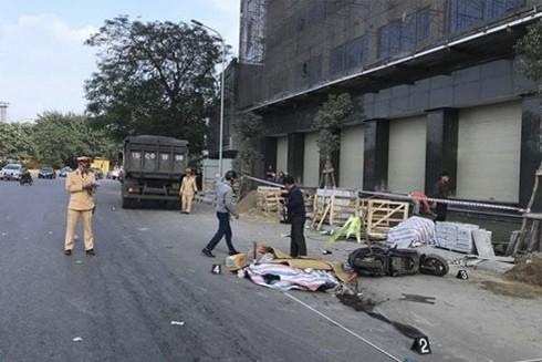 Hiện trường vụ nữ sinh điều khiển xe máy điện thiệt mạng tại Hải Phòng