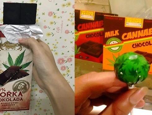 Các loại bánh chocolate và kẹo mút có chứa cần sa được quảng cáo rộng rãi trên các trang mạng xã hội