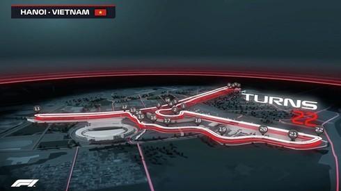 Thiết kế trường đua độc đáo tại chặng F1 tại Việt Nam